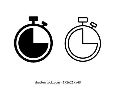 Clock icon set. Time icon vector. watch icon symbol
