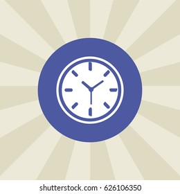 clock icon. sign design. background