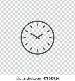 Clock icon. Clock sign vector.