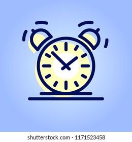 Clock icon. Simple vector sign.