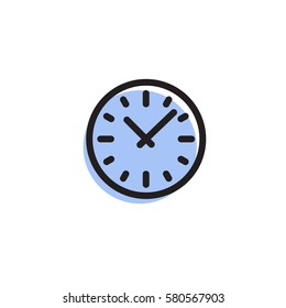 Clock icon. Simple vector sign.