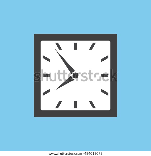 Clock icon in square design