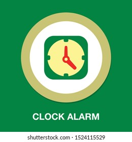 Clock icon - Clock symbol, vector alarm - Clock alarm isolated