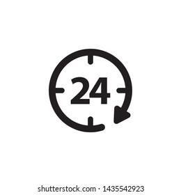 Clock Icon Symbol Vector Ilustration