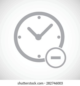 Clock icon. Time reduce icon simple vector. Illustration of time reduce logo for web and digital