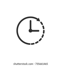 Clock icon, time this vector illustration on a white background