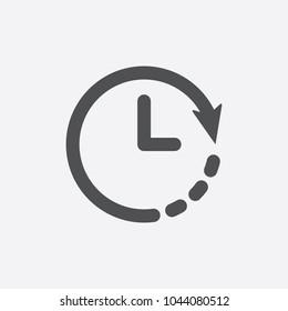 Clock icon. Timer icon. Countdown, deadline, schedule, planning symbol. Vector icon