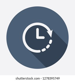 Clock icon. Timer icon. Countdown, deadline, schedule, planning symbol. Vector icon