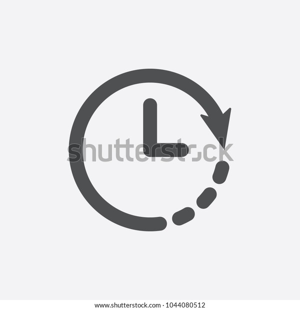 Clock Icon Timer Icon Countdown Deadline Stock Vector