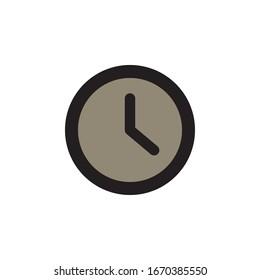 Clock Icon In Trendy  Design Vector Eps 10