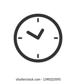 Clock icon in trendy flat style isolated on background. Clock icon page symbol for your web site design Clock icon logo, app. Clock icon Vector illustration.
