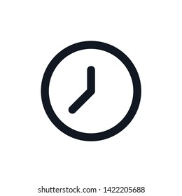 Clock icon in trendy flat style isolated on background. Clock icon page symbol for your web site design Clock icon logo, app, UI. Clock icon Vector illustration, EPS10. - Vector