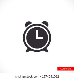 Clock icon in trendy flat style isolated on background. Clock, logo, application, user interface. Clock Icon Vector Illustration