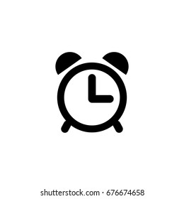 Clock icon in trendy flat style isolated on white background. Symbol for your web site design, logo, app, UI. Vector illustration, EPS