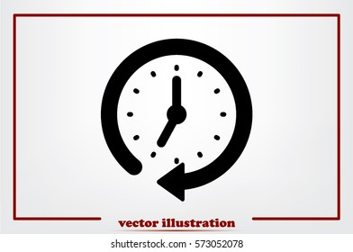 Clock Icon Vector.