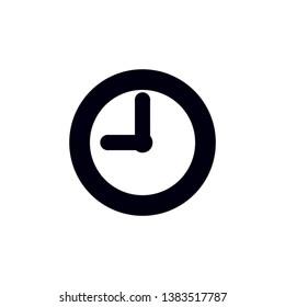 clock icon vector. fashion icon vector