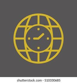 Clock Icon ,vector. Flat design.