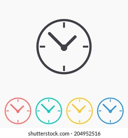 Clock icon , Vector illustration