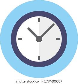 Clock icon , Vector illustration flat design