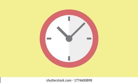 Clock icon , Vector illustration flat design, Thumbnail