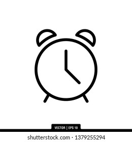 Clock Icon Vector Illustration Logo Template
