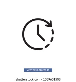 clock icon vector illustration template