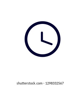 Clock icon, Vector illustration Time icon