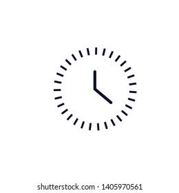 clock icon. vector illustration. time icon