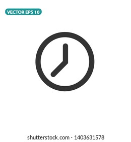 Clock Icon Vector Illustration white