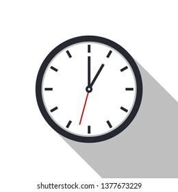 Clock icon vector. Office clock icon. Time icon. Vector illustration, eps10.