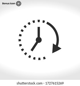 Clock icon vector . Passage of time