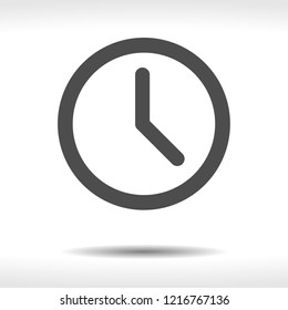 Clock icon vector, time sign