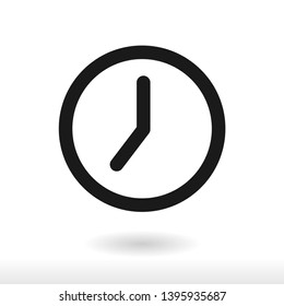 Clock icon vector  Time symbol