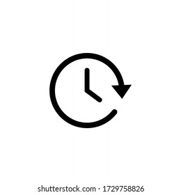 Clock icon vector. Time icon symbol illustration