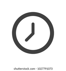 Clock icon vector, Time icon , Watch symbol, Vector eps 10, flat time sign, black clock symbol, creative clock sign