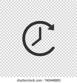 Clock icon. Clock vector icon. Clock icon in trendy flat style