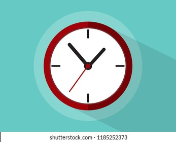 Clock icons with long shadow.vector