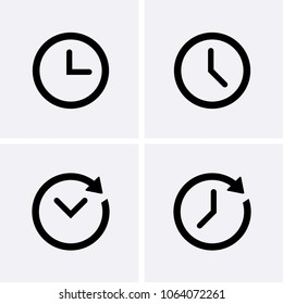 Clock Icons set Vector. Time icon