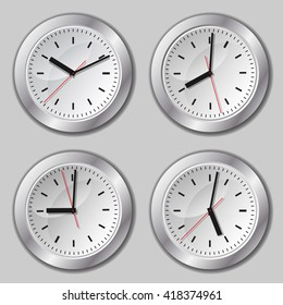 Clock. Image clock. Watch for wall mounting. Hours image. Digital Watch.