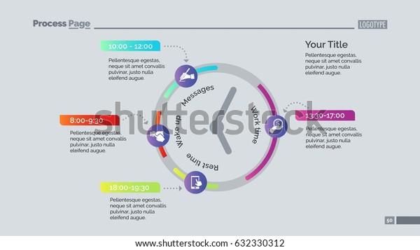 Clock Infographic Diagram Slide Template