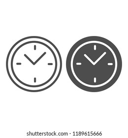 Clock line and glyph icon. Time vector illustration isolated on white. Dial outline style design, designed for web and app. Eps 10