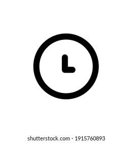 Clock line icon, time symbol. Editable stroke. simple illustration mobile concept app line icon and web design. Editable stroke. Design template vector