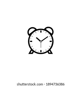 Clock line icon, timer isolated on white background. Simple alarm clock Icon vector illustration. Business watch. Simple desktop clock. Minimalistic hour, watch symbol