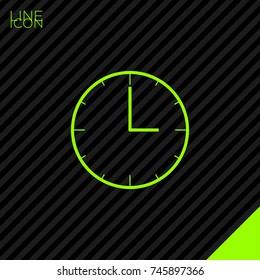 clock line vector icon