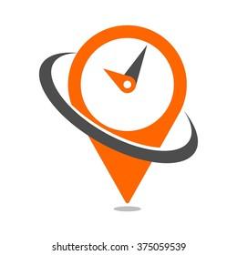 clock logo vector.