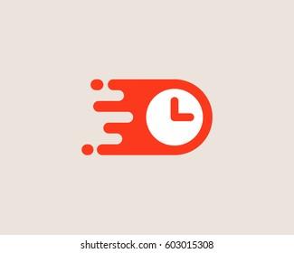 Clock logotype. Time management vector logo design.
