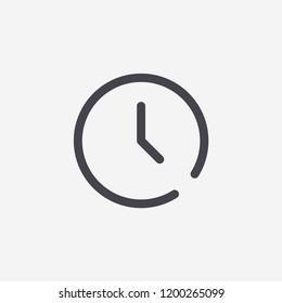 Clock Modern Simple UI Vector Icon