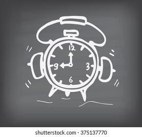 clock on blackboard