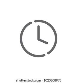 clock outline icon