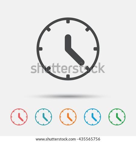 Clock Sign Icon Mechanical Clock Symbol Stock Vector Royalty Free